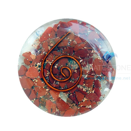 Red Jasper Orgone Energy Disc Cababhons