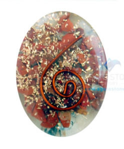 Red Jasper Orgone Energy Oval Cabochons