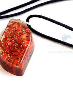 Red Jasper Orgone Eye Pendant With Cord