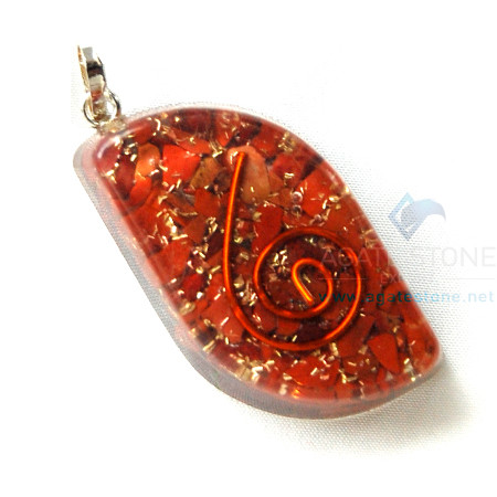 Red Jasper Orgone Eye Pendant