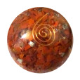 Red Jasper Orgonite Ball