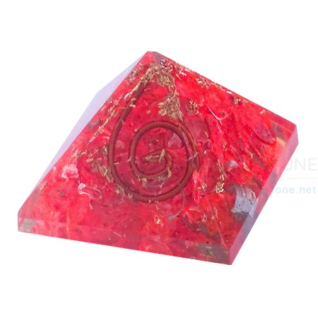 Red Onyx Energy Orgone Baby Pyramid