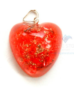 Red Onyx Orgone Heart Pendant