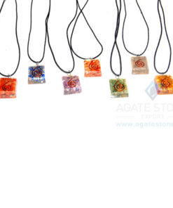 Square Pendant Chakra Set With Cord
