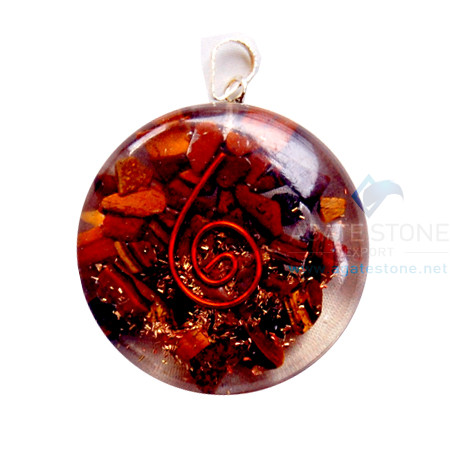 Tiger Eye Orgone Disc Pendant
