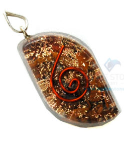 Tiger Eye Orgone Eye Pendant