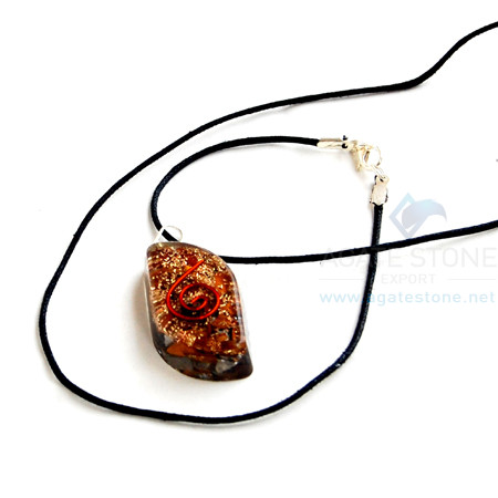Tiger Eye Orgone Eye Pendant With Cord
