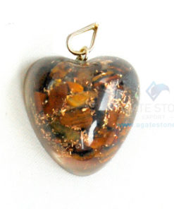 Tiger Eye Orgone Heart Pendant