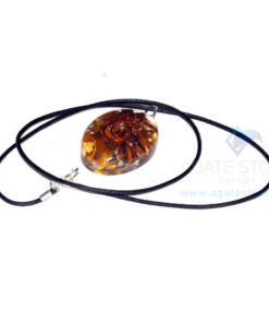 Tiger Eye Orgone Oval Pendant With Cord