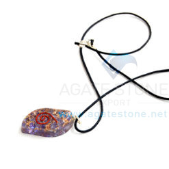 Violet Onyx Orgone Eye Pendant With Cord