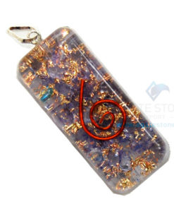 Violet Onyx Orgone Long Rectangle Pendant