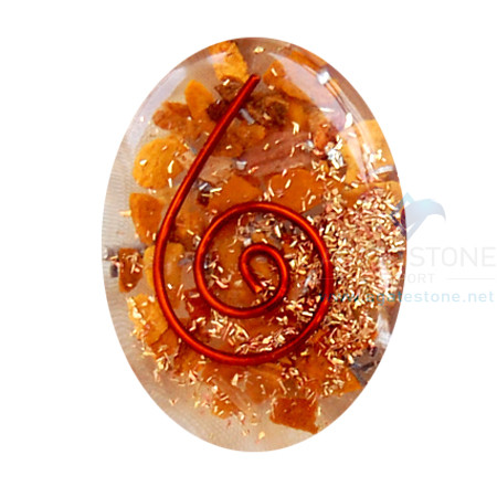 Yellow Jasper Orgone Energy Oval Cabochon