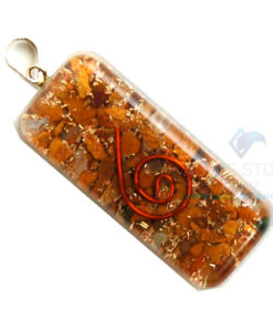 Yellow Jasper Orgone Long Rectangle Pendant