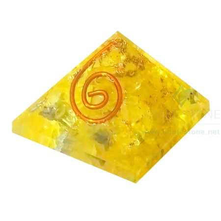 Yellow Onyx Energy Orgone Baby Pyramid