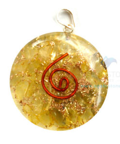 Yellow Onyx Orgone Disc Pendant