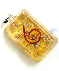 Yellow Onyx Orgone Rectangle Pendant