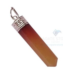 Orange Aventurine Pencil Pendants