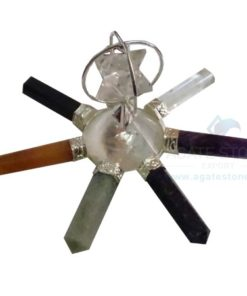 Seven Chakra Energy Generator with Spinning Merkaba