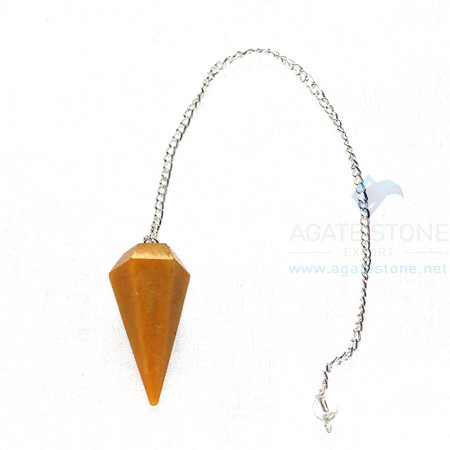 Golden Quartz Pendulum