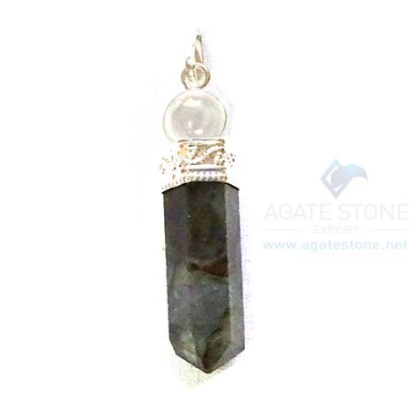 Labrodolite Two Piece Ball Pendant