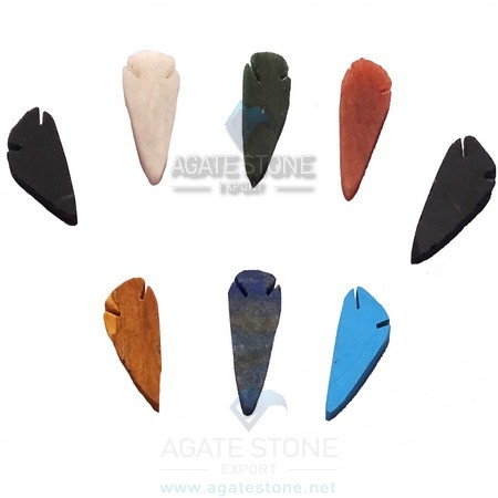 Mix Gemstone Flat Arrowheads