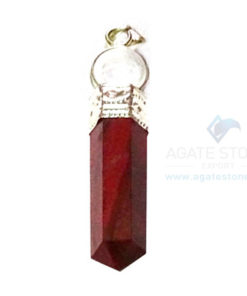 Red Jasper Two Piece Ball Pendant