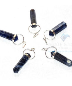 Sodalite Double Point Loop Pendant