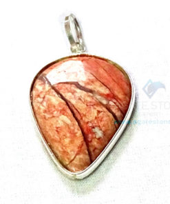 Uncut Gemstone Metal Coated Agate Stone Pendant-1