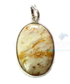 Uncut Gemstone Metal Coated Agate Stone Pendant-10