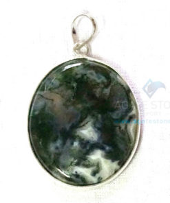 Uncut Gemstone Metal Coated Agate Stone Pendant-14