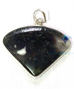 Uncut Gemstone Metal Coated Agate Stone Pendant-16