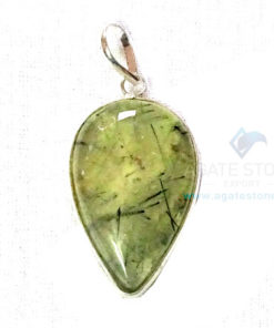 Uncut Gemstone Metal Coated Agate Stone Pendant-17