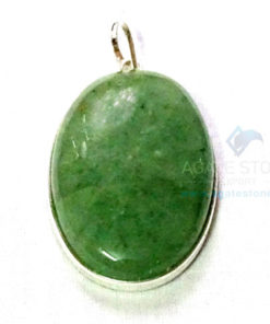 Uncut Gemstone Metal Coated Agate Stone Pendant-2