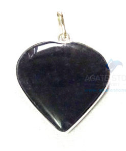 Uncut Gemstone Metal Coated Agate Stone Pendant-25