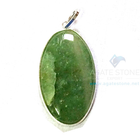 Uncut Gemstone Metal Coated Agate Stone Pendant-36