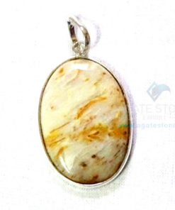 Uncut Gemstone Metal Coated Agate Stone Pendant-9