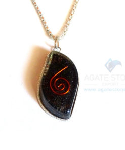 Eye Shaped Black Tourmaline Orgone Jewelry