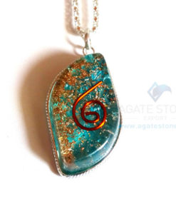 Eye Shaped Blue Onyx Orgonite Jewellery