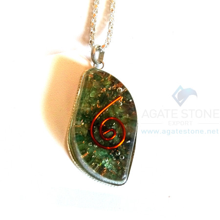 Eye Shaped Green Jade Orgone Jewelry
