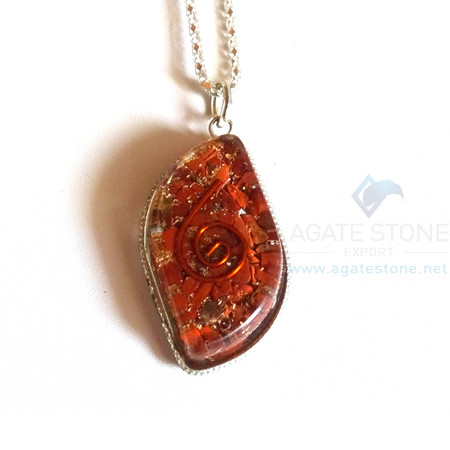 Eye Shaped Red Jasper Orgonite Jewellery
