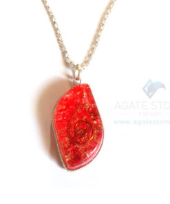Eye Shaped Red Onyx Orgone Jewelry