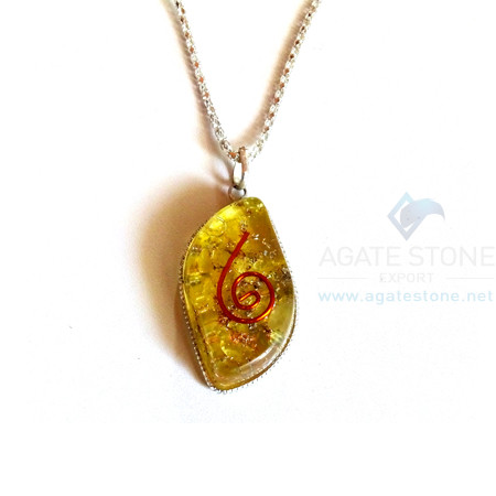 Eye Shaped Yellow Onyx Orgone Jewelry