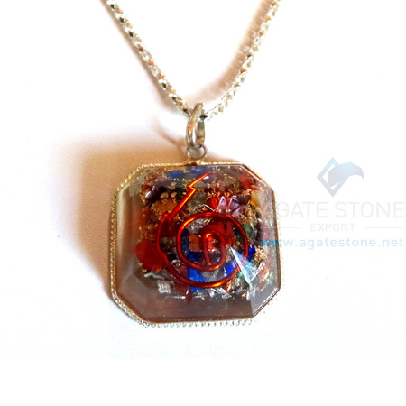 Faceted Square Mix Chakra Orgone Jewelry