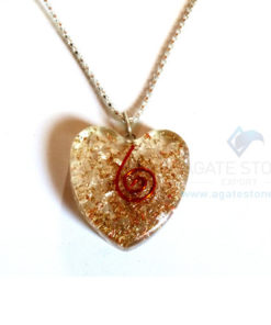 Heart Shaped Crystal Quartz Orgone Jewelry