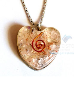 Heart Shaped Rose Quartz Orgone Jewelry