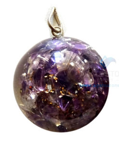 Orgone Dome Shaped Amethyst Pendant