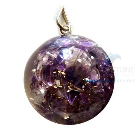 Dome shaped orgone pendants archives agate stone orgone dome shaped amethyst pendant mozeypictures Images