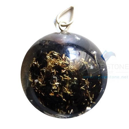 Orgone Dome Shaped Black Tourmaline Pendant