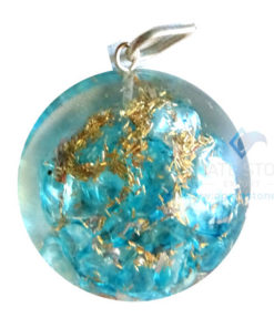 Orgone Dome Shaped Blue Onyx Pendant