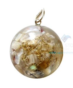 Orgone Dome Shaped Moonstone Pendant